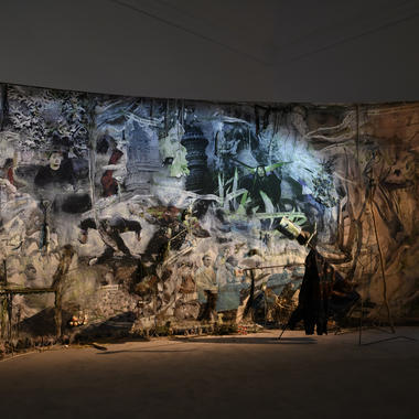 Tapestry by Laure Prouvost at the Venice Biennial