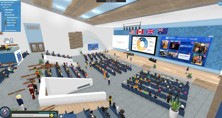 The virtual conference room for the Laval Virtual 2020 edition